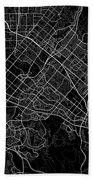 Irvine California Usa Dark Map Bath Towel