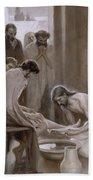 Jesus Washing The Feet Of His Disciples Bath Towel