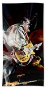 Joe Bonamassa Blue Guitarist Art Bath Towel