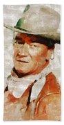 John Wayne By Mary Bassett Bath Towel