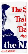 Join The Navy - The Service For Training And Travel Bath Towel by War Is Hell Store