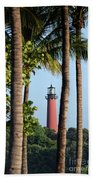 Jupiter Lighthouse Bath Towel