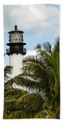 Key Biscayne Lighthouse, Florida Bath Towel