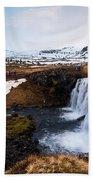 Kirkjufellsfoss Waterfalls Iceland Bath Towel