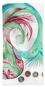 Koi Fish-watercolor Bath Towel