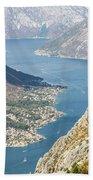 Kotor Bay In Montenegro Bath Towel