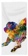 Labrador Retriever-colorful Bath Towel