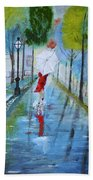 Lady In Red Original Version Hand Towel