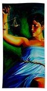 Lady Justice Bath Towel