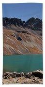 Laguna Chiar Khota In Condoriri Mountains Bath Towel