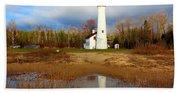 Lake Huron Lighthouse Bath Towel