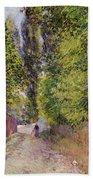 Landscape Near Louveciennes Bath Towel