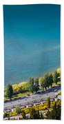 Landscape Of Lake In The South Island, Queenstown New Zealand  Bath Towel