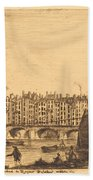 Le Pont-au-change, Paris, Vers 1784 Bath Towel