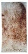 Leonardo Da Vinci Bath Towel