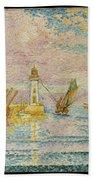 Lighthouse At Groix Bath Towel