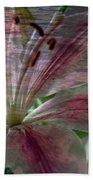 Lily Blossom Bath Towel