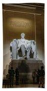 Lincoln Statue Bath Towel