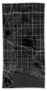 Long Beach California Usa Dark Map Bath Towel