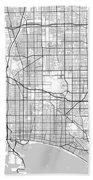 Long Beach California Usa Light Map Bath Towel