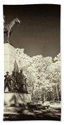 Louisiana Monument At Gettysburg Bath Towel