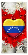 Love Venezuela Bath Towel