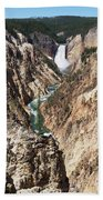 Lower Falls From Artist Point In Yellowstone National Park Bath Towel