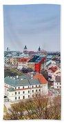 Lublin Old Town Panorama Poland Bath Towel