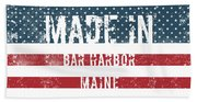 Made In Bar Harbor, Maine Hand Towel