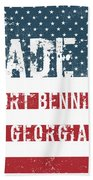 Made In Fort Benning, Georgia Hand Towel