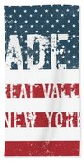 Made In Great Valley, New York Bath Towel