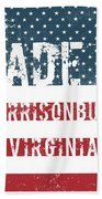 Made In Harrisonburg, Virginia Bath Towel