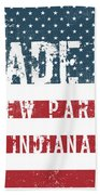 Made In New Paris, Indiana Bath Towel