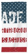 Made In Northborough, Massachusetts Bath Towel