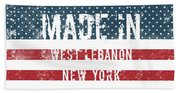 Made In West Lebanon, New York Hand Towel