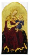Madonna And Child Enthroned Bath Towel