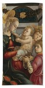 Madonna And Child With Angels Bath Towel