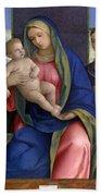 Madonna And Child With Saints Bath Towel