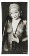Mae West, Vintage Actress Bath Towel