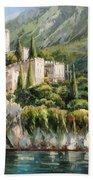 Malcesine Castle, Lago Di Garda Bath Towel
