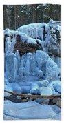 Maligne Canyon Frozen Bath Towel
