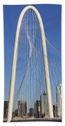 Margaret Hunt Hill Bridge In Dallas - Texas Bath Towel