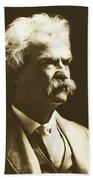 Mark Twain Bath Towel