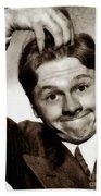 Mickey Rooney, Vintage Actor Bath Towel