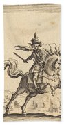 Military Commander On Horseback Bath Towel