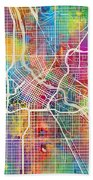 Minneapolis Minnesota City Map Bath Towel