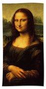 Mona Lisa Portrait Bath Towel