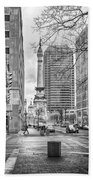 Monument Circle Bath Towel by Howard Salmon