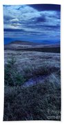 Moonlight On Stone Mountain Slope With Forest Bath Towel