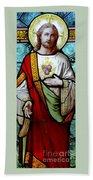 Most Sacred Heart Of Jesus Bath Towel